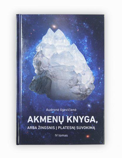 Ketvirtame knygos Akmenu knyga, arba zingsnis i platesni suvokima tome pateikiami kai kurių iki šiol neaptartų ir jau minėtų, bet dar giliau išnagrinėtų mineralų aprašai, daug unikalios ir dar niekur nepublikuotos autorės medžiagos apie mineralų savybes ir poveikį, cheminės ir planetinės mineralų formulės. Knygą praturtina retesnių praktikų su mineralais pavyzdžiai ir komentarai, astrologinė informacija bei išsamūs paaiškinimai ir nuotraukos. Knyga ypač naudinga Dvasios ieškotojams ir, žinoma, mineralų terepeutams, psichoterapeutams, psichologams, astropsichologams, astrologams, astromineralogams, taip pat natūraliosios ir akademinės medicinos specialistams bei visiems, kas domisi mineralais ir natūraliais sveikatinimo metodais. Knyga galima isigyti antropoteosofijos el. parduotuveje.